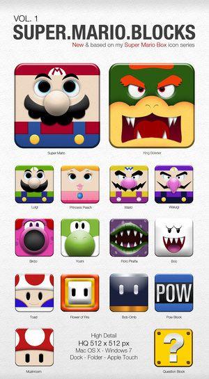 Super Mario Blocks Icon