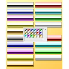 メタリックな素材が作れるグラデーションファイル