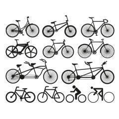 自転車モノグラムデザイン ベクター素材