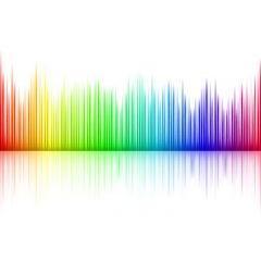 虹色のMusicイコライザ ベクター素材