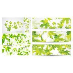 爽やかな葉っぱの背景デザイン ベクター素材