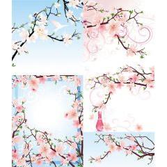 桜色の春デザインにいかがですか? ベクター素材