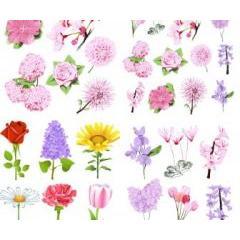 春を彩る花尽くしなベクター素材