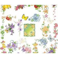 春の陽気さで気分もワクワクするフローラルデザイン ベクター素材