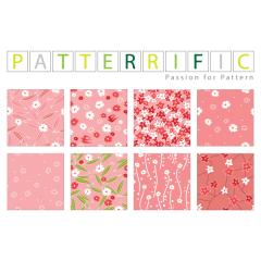 つなぎ目の無いピンクデザインパターン素材