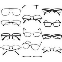 17種類のスタイリッシュメガネ ベクター素材
