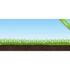 草や青空が春らしいフォトショップPSD素材