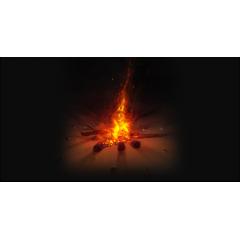 リアルな炎ブラシ フォトショップ素材