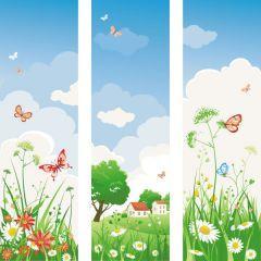 春の陽気さを感じてワクワクさせてくれるデザイン ベクター素材