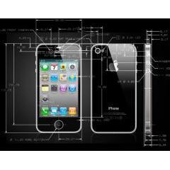 iPhone 4の最新の公式CAD設計 PDF素材