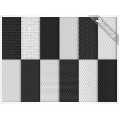 模様がかたどられた12種類のフォトショップ パターン素材