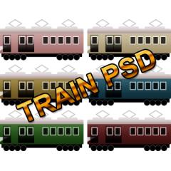 かわいいシンプル電車アイコンPSD