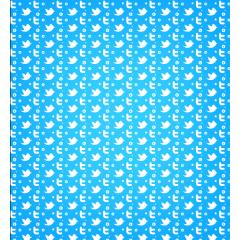 つなぎめのないツィッターパターン フォトショップ&イラストレーター素材