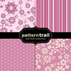 柔らかい印象を感じるピンク系のフォトショップパターン素材