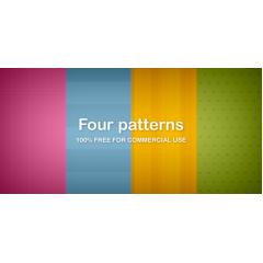 4種類のカラフルデザインテクスチャ素材