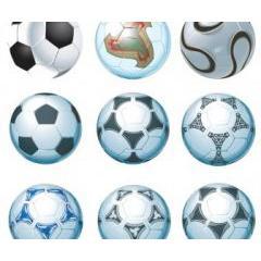 懐かしいものから、ワールドカップ公式用まであるサッカーボール イラストレーターベクター素材