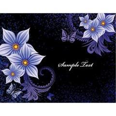 黒と紫のがシンクロしている美しい花 イラストレーターベクター素材