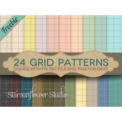 とっても可愛いフォトショップパターン素材24セット