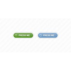 白の枠線が可愛いwebボタン フォトショップPSD素材