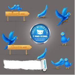文字も入れれるかわいいTwitterアイコンセット。