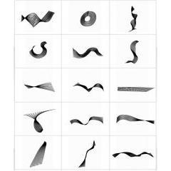 抽象デザインに使えるスパイラルブラシセット