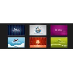 個性的なビジネスカードデザイン ベクター素材