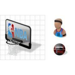 アメリカで最も人気のあるスポーツNBAのicon素材セット