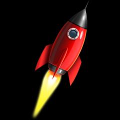 宇宙ロケットのアイコン素材 フォトショップPSD