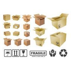 ダンボールの箱のアイコン ベクター素材