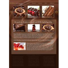 チョコレートたっぷりのwebテンプレート素材