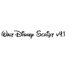ウオルトディズニーで使用されているフォント Walt Disney