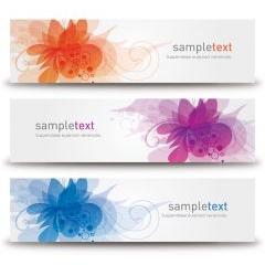 花と蔓のファンタジーデザイン ベクター素材