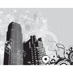 都市のグランジ風デザイン イラストレーターベクター素材