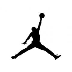 バスケの神様エア・ジョーダンのロゴデザイン フォトショップPSD素材