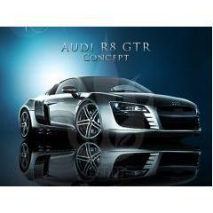 クールな車 Audi R8 GTR PSD素材