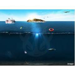 海の様子がわかるPSD素材