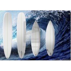 サーフボードのテンプレート素材 PSD