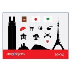 東京に関連するものがアイコンに! ベクター素材