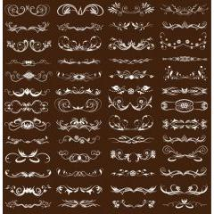 ビンテージ風のフローラルデザイン ベクター素材