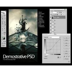 映像のワンシーンに使える フォトショップPSD素材