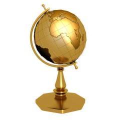 黄金の地球儀 PSD素材