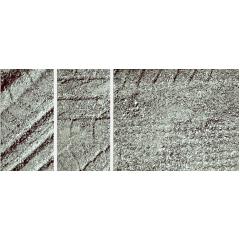 タイヤ痕のついた砂利のテクスチャ