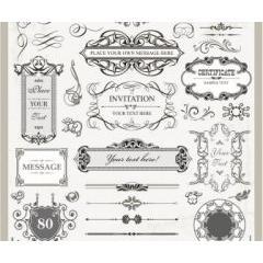 貴族のデコレーションフレーム ベクター素材