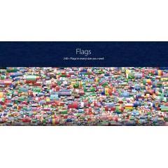 国旗アイコンはこれがあれば大丈夫。240種類以上の国旗アイコン集。