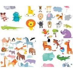 とっても可愛い動物さんのキャラクター素材