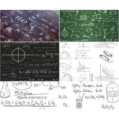 科学の公式表をデザインに応用した素材 ベクター素材