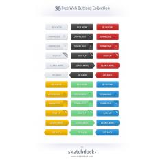 ECショッピングサイトに使えるシンプルなボタンセット