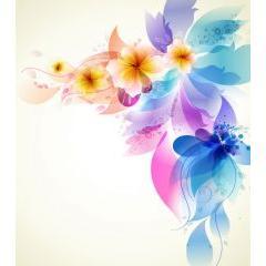 幻想的な花の背景デザイン ベクター素材