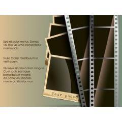 レトロなフィルムとポラロイド写真 ベクター素材