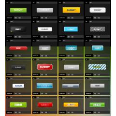 フォームのSUBMITボタンに使えるカラフルなバリエーションのアイコン